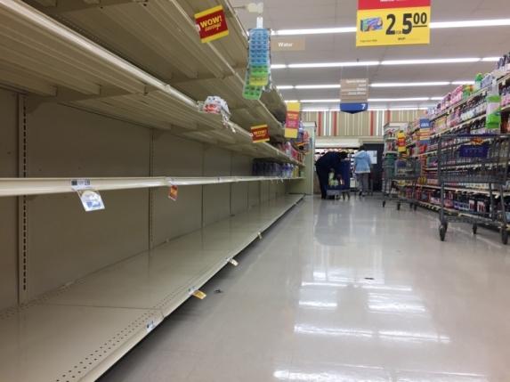 empty shelves source dailytarheel