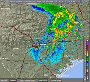 Tornado Warnings in Red
